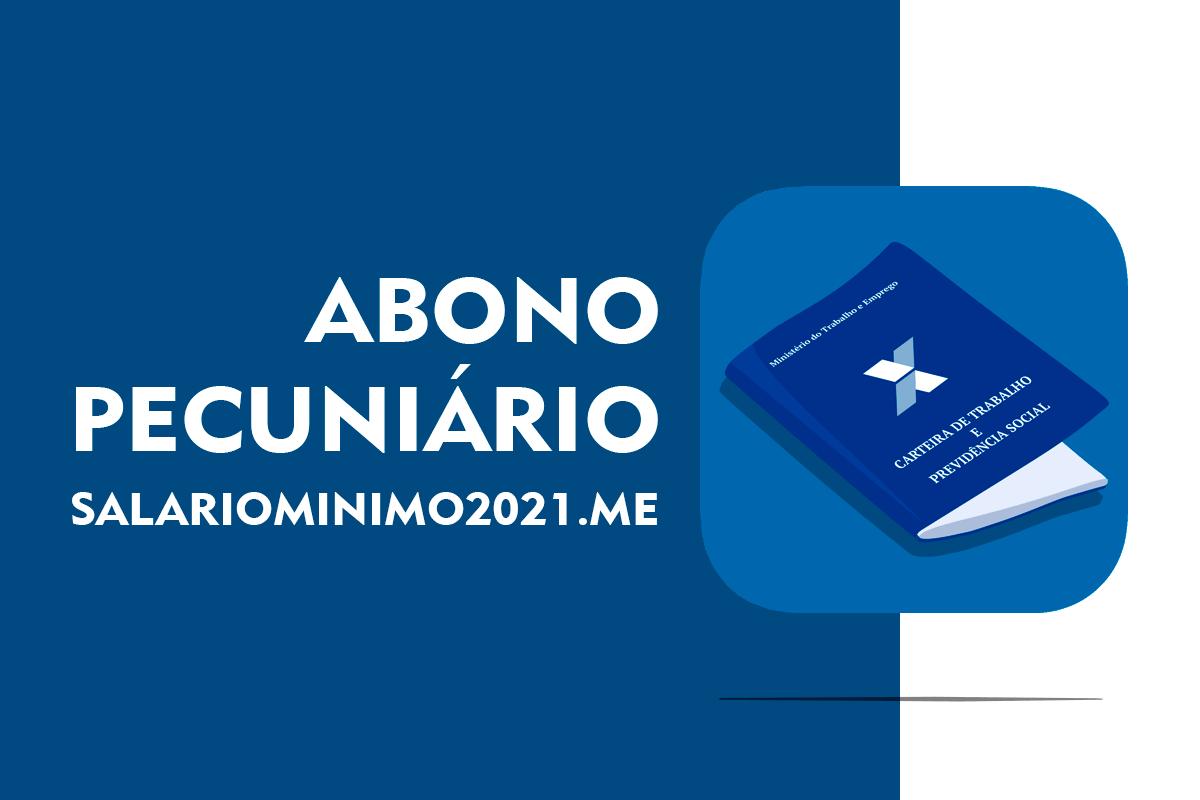 Abono Pecuniário 2022