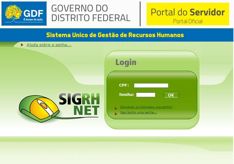 Portal do Servidor GDF 2022